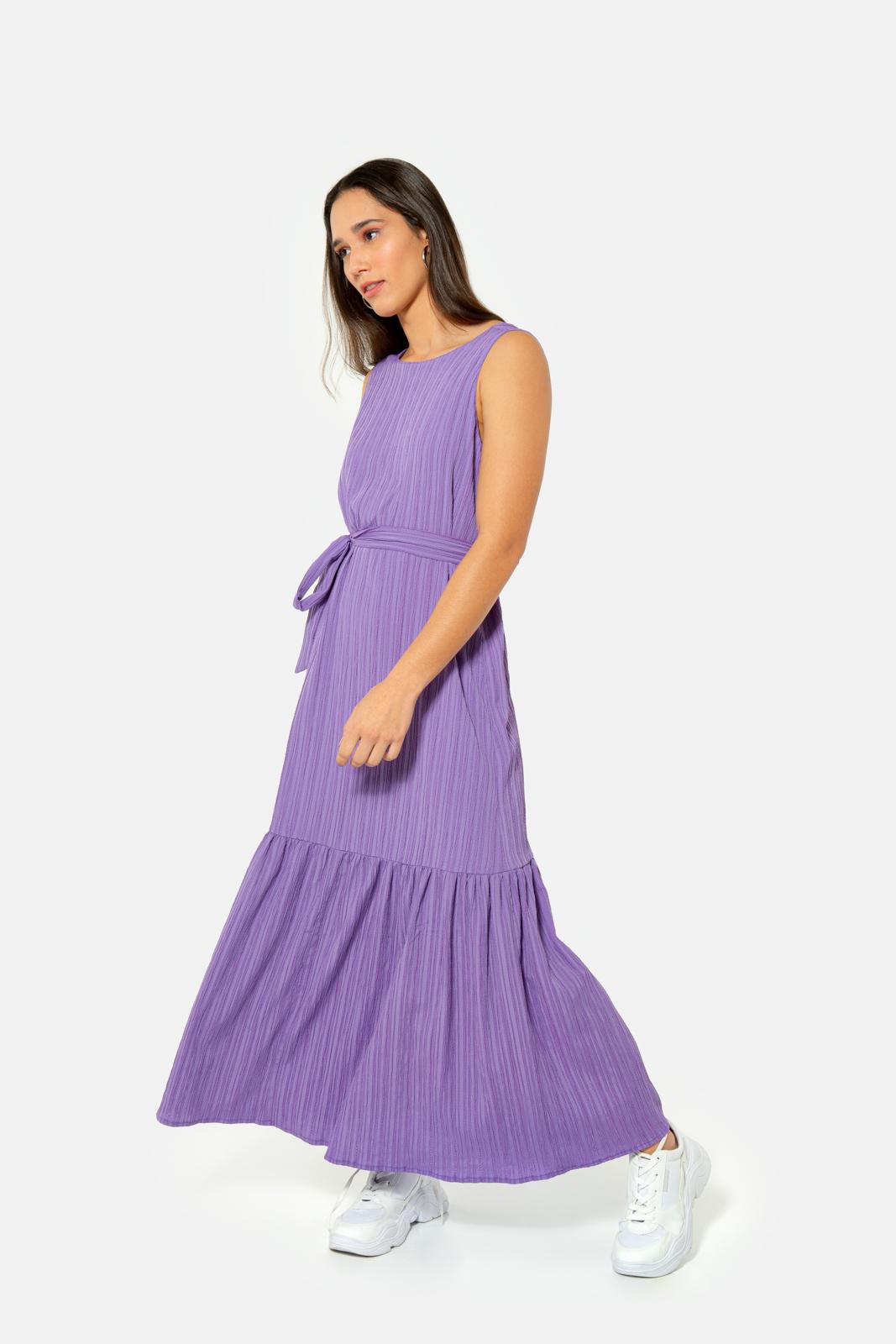 Vestido Serinah Máxi Lilás