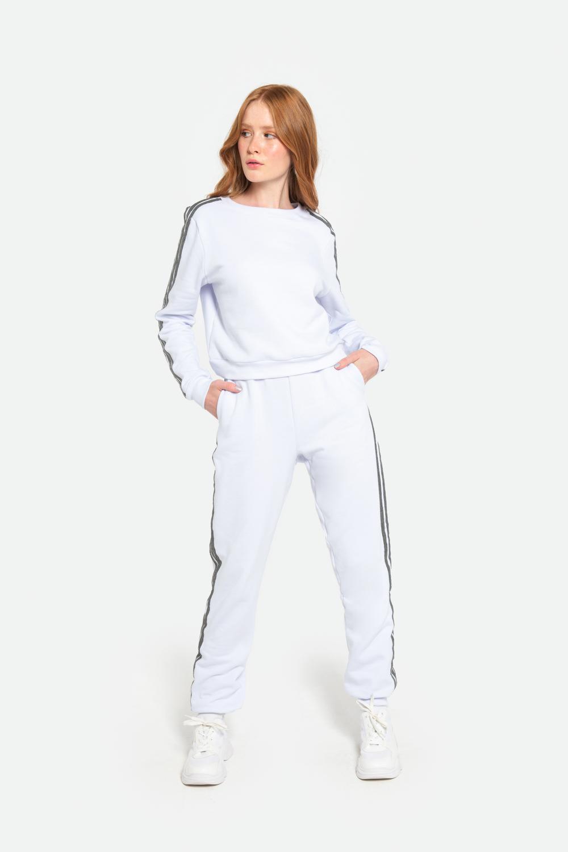 Calça Serinah Moletom Branco