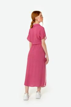 Vestido Serinah Mídi Chemise Rosa - Lisboa