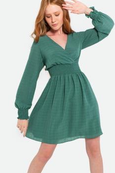 Vestido Serinah Curto Transpassado Verde