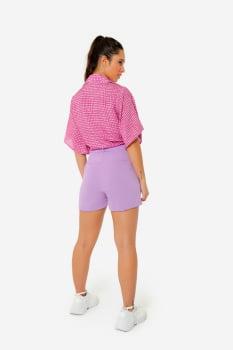 Camisa Serinah Manga Curta Rosa