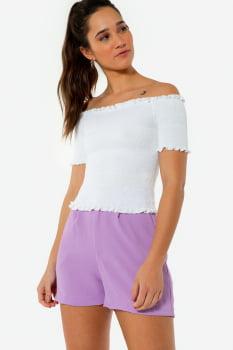 Blusa Serinah Ombro-a-ombro Branco