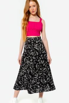Cropped Serinah Franzido Rosa