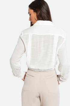 Camisa Serinah Cropped Viscose Off-white